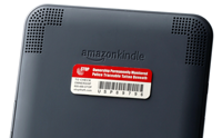Small STOP Plate on Amazon Kindle